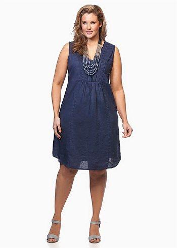 #Virtu Linelle Scalloped Dress #plussize #curvy #takingshape