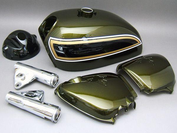 CB750 K3 PAINTED BODY SET (CANDY BACCHUS OLIVE CUSOM) [G006BO] - 120,000 JPY(1025.05 USD) : HONDA CB750 Four K-series motorcycle parts store MOTORCYCLE YAMIYA