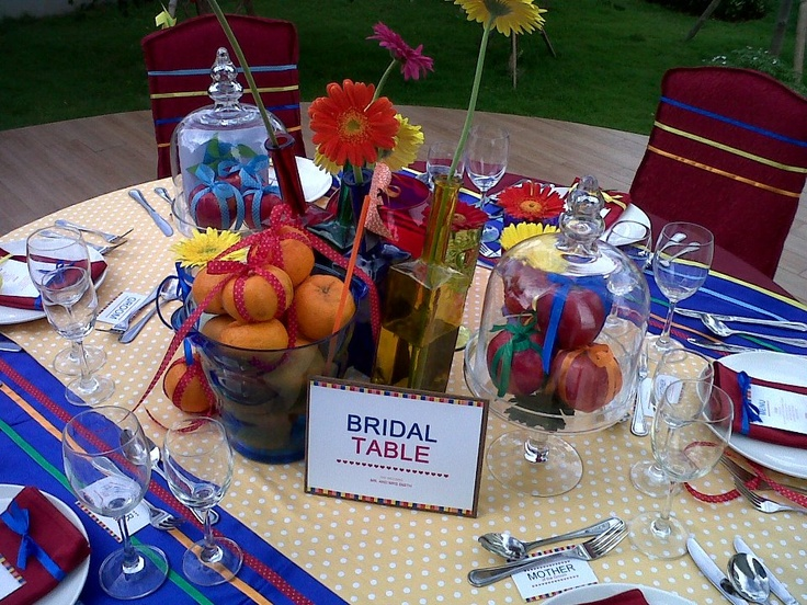 A pop-art outdoor wedding set-up arrangement at Zen Garden. www.pullmanjakartacentralpark.com