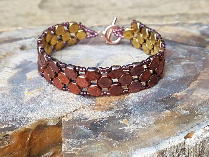 Hexagon beaded bracelet