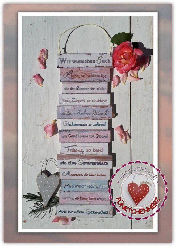 Schild Wir Wünschen Euch Geschenk Hochzeit Boho Zur