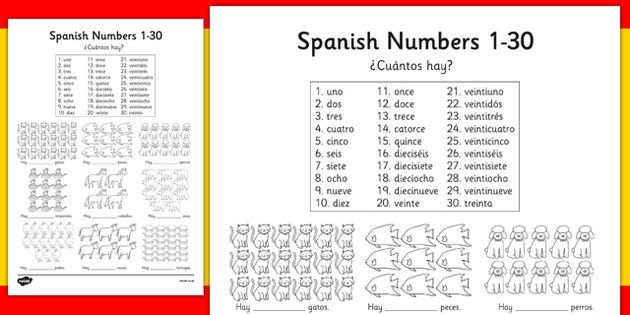 spanish numbers 1 30 how many worksheet worksheets spain mfl spanish spanish numbers. Black Bedroom Furniture Sets. Home Design Ideas