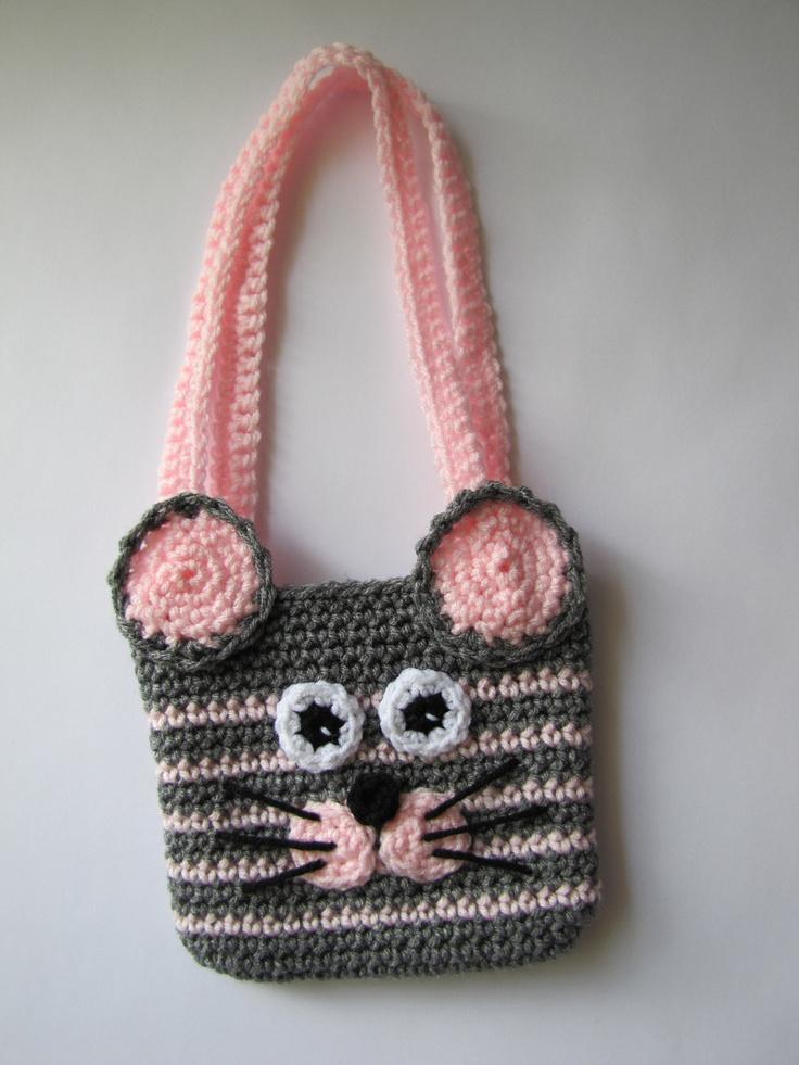 Crochet mouse purse. $20.00, via Etsy.
