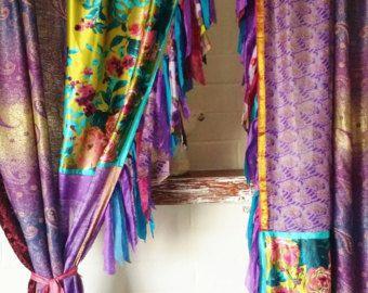 Boho hippie Gypsy gordijnen gordijnen val Hippie door HippieWild