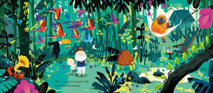 Spread from 'Grandad's Island' by Benji Davies