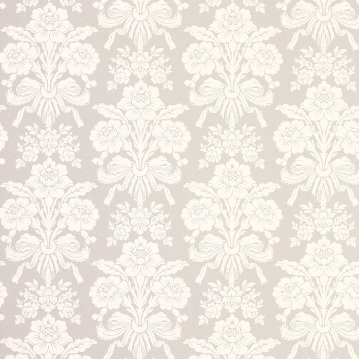 Laura Ashley Tatton Dove Grey Damask Wallpaper