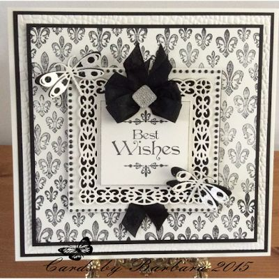 Phills' Crafty Place: Baroque Best Wishes - Black & Cream