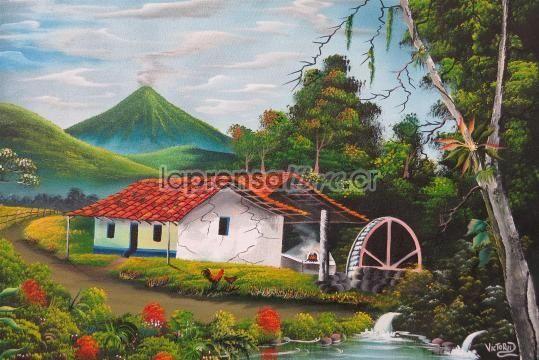 Con pinturas rescata el paisaje costarricense
