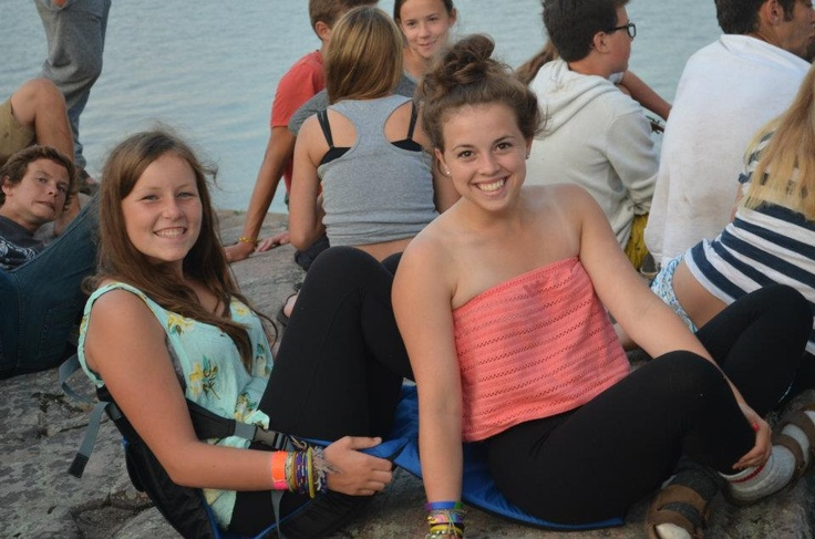 Hanging out by the water at Camp Kitchi