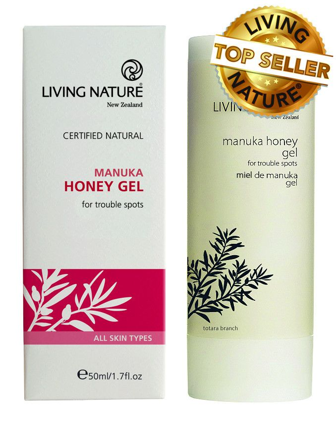 Manuka Honey Gel - this potent blend combines Active Manuka Honey for skin healing with Manuka Oil to help protect, cleanse and soothe the skin. Active Manuka Honey is one of nature's miracle healers, and anti-microbial Manuka Oil is a super protector - both with proven skin benefits. Manuka Honey Gel a 'proven way to manage acne' as featured on gorgeousme.co. Manuka Honey Gel is perfect for blemish-prone skin and trouble spots including scratches, insect bites and cold sores.