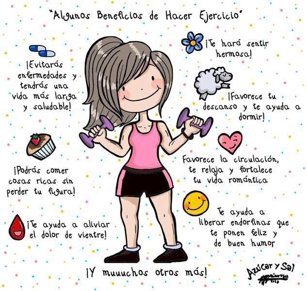 Beneficios de realizar #ejercicio físico con regularidad. #salud