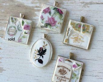 Verkauf La Brocante Mosaik Schild Shabby Stil von dkshopgirl