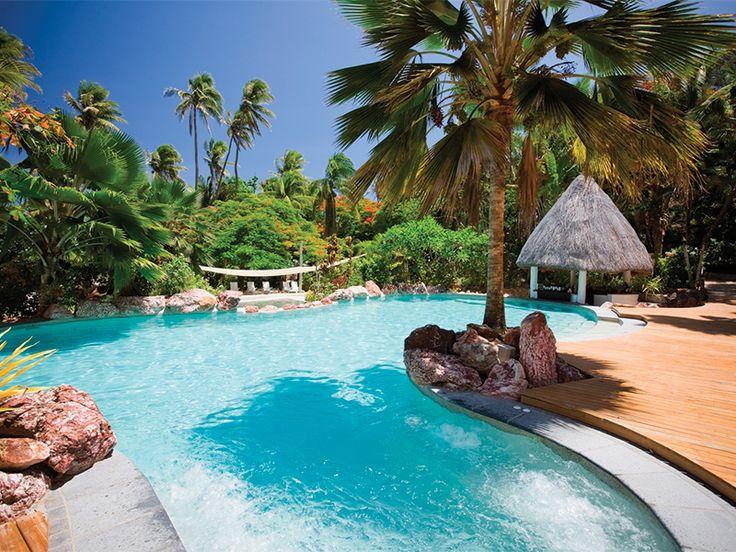 Take a dip at Malolo Island Resort, Fiji  www.islandescapes.com.au