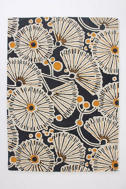 Tufted Gingko Rug. You can't beat graphic mixed with floral. #anthropologie #anthrofave