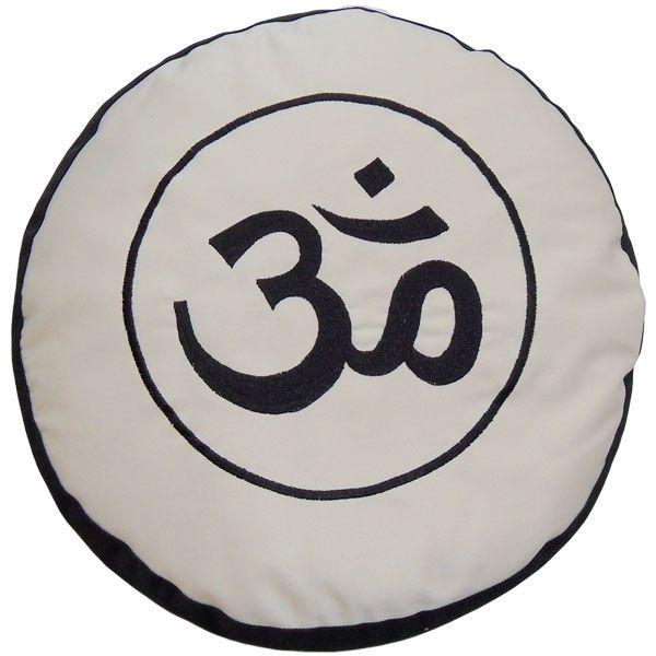 Meditationskissen YogiStick® Om black & white günstig kaufen
