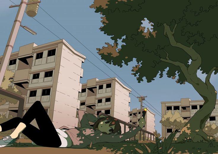 Apartment 3 by Tomiokajiro > epic compoistion in this #manga #anime #art