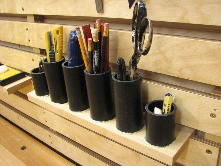 Les 25 meilleures id es concernant outils de menuiserie sur pinterest diy autour du bois - Astuce rangement atelier bricolage ...