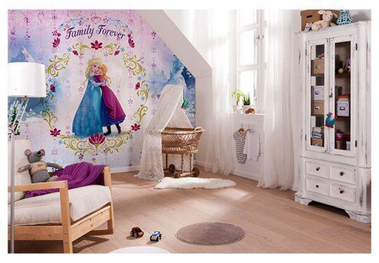 Camera per bambini - Carta da parati a motivi - Carta da parati di carta - Frozen Il regno di Ghiaccio - Family forever