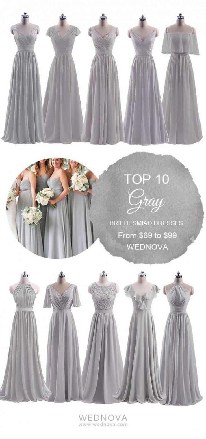 5 Graues Kleid Hochzeit in 5  Brautjungfern kleider, Graues
