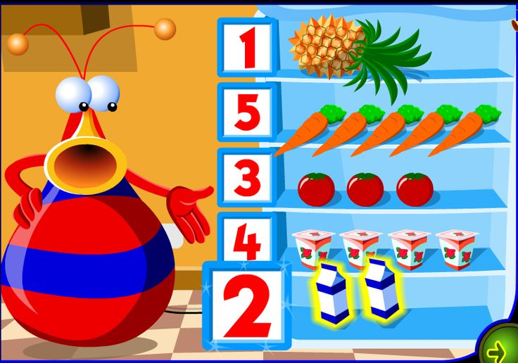 Numbers game. http://espemoreno.blogspot.com.es/2013/09/food-and-numbers-1-to-5-interactive-game.html