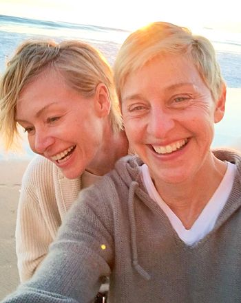 Ellen DeGeneres, Portia de Rossi Take Makeup-Free Pics on Anniversary - Us Weekly