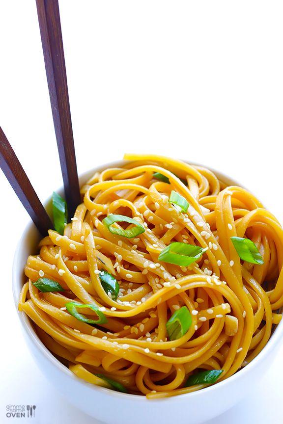 Easy Sesame Noodles | gimmesomeoven.com