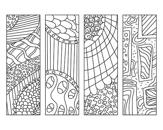 Zendoodle Coloring Page Bookmarks Diy Bookmarks Printable Colouring For Adults Kids Abstract Pr Coloring Bookmarks Abstract Coloring Pages Coloring Pages