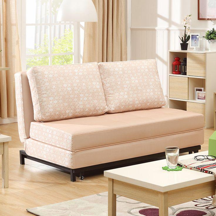 Светло-бежевый диван с раскладным механизмом без подлокотников на ножках https://lafred.ru/catalog/catalog/detail/22133627600/