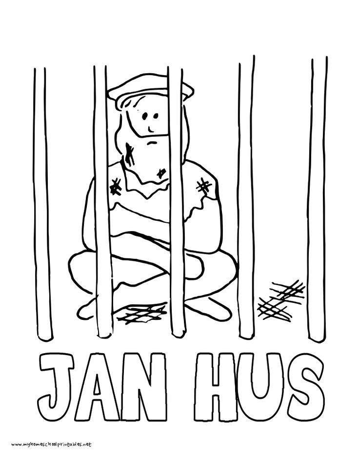 World History Coloring Pages Printables Jan Hus John Huss