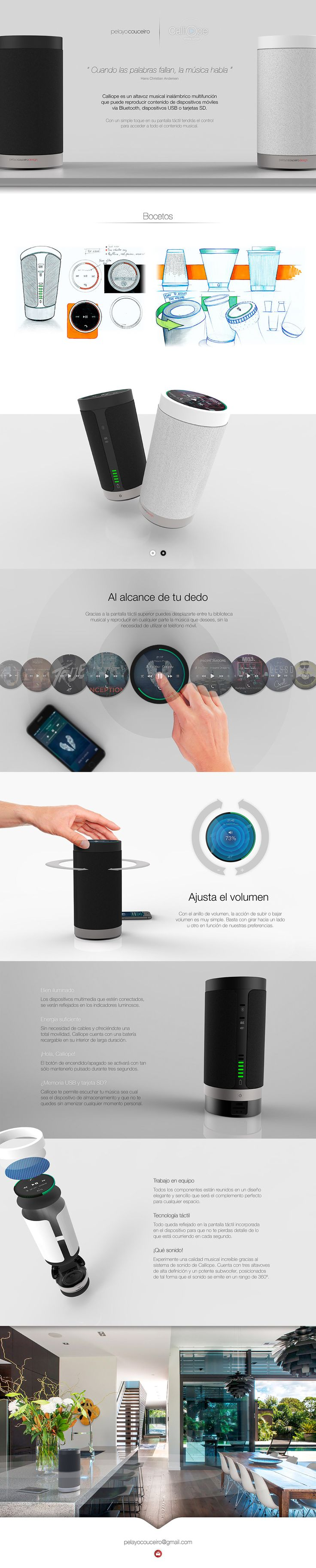 Calliope Wireless Speaker on Behance