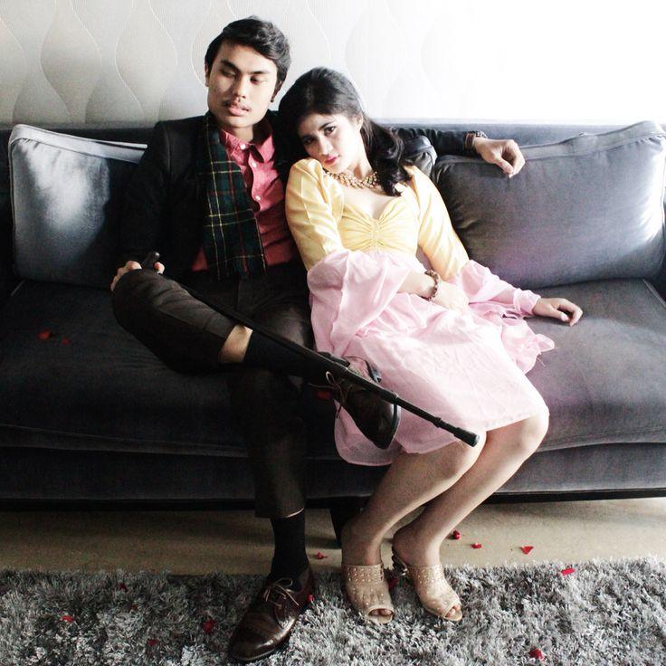 RANAWAY Project: Edge of Glory  Shot by Rifa Kharisma C | MUA & Style director : Rifa Kharisma C | Talents: M Rifki Meidianto, Andini Iskayanti P  #ranawayproject #lookbook #gatsby #20s