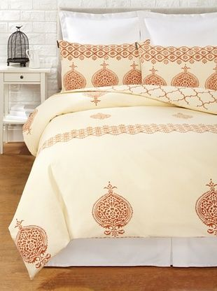 65% OFF Filling Spaces Annika Reversible Duvet Set (Yellow-Cream)