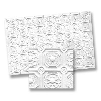 Faux Tin/Wood Ceiling Panels 6pc