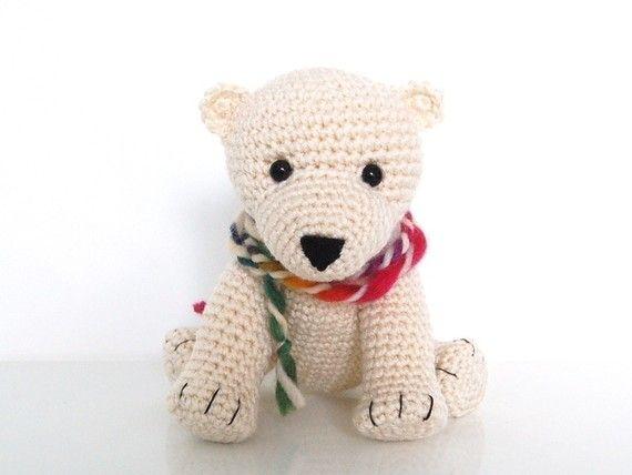 Crochet Pattern- Baby Polar Bear Tony