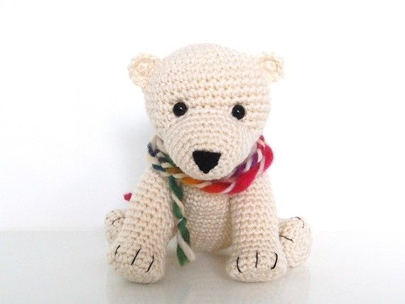 Crochet Pattern- Baby Polar Bear Tony
