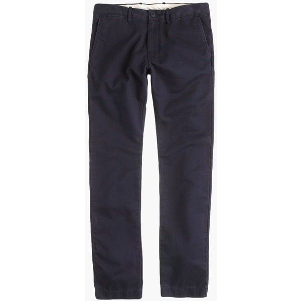 J.Crew Broken-In Chino In 484 Fit ($68) ❤ liked on Polyvore featuring men's fashion, men's clothing, men's pants, men's casual pants, mens zip off pants, j crew mens pants, mens chino pants, mens slim fit chino pants and mens chinos pants