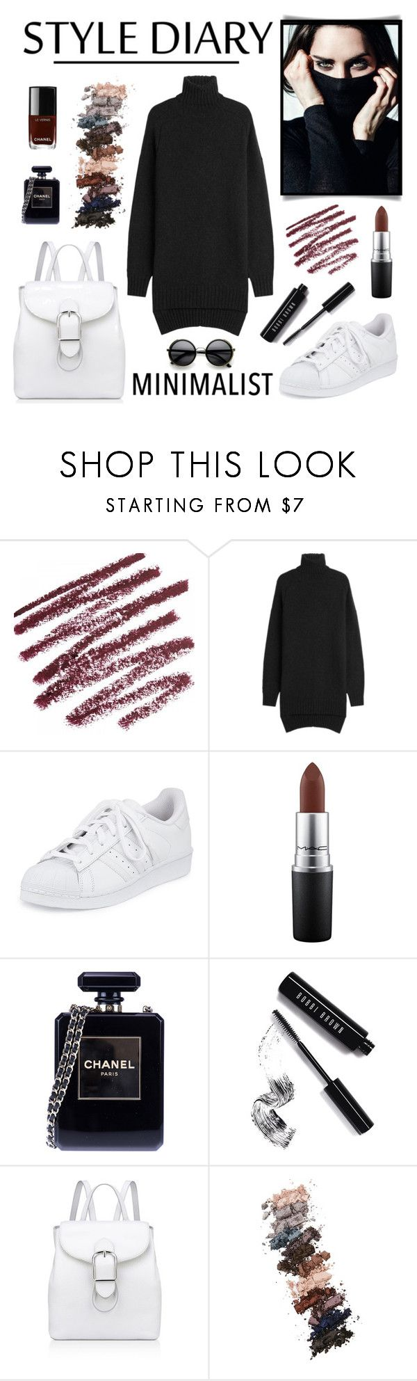 """""""Minimalist"""" by aurorabvik ❤ liked on Polyvore featuring Isabel Marant, adidas, MAC Cosmetics, Chanel, Bobbi Brown Cosmetics, Anne Klein, L.A. Girl and ZeroUV"""