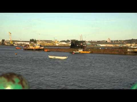 Time-lapse footage of The Fitzroy submarine moored on the Medway in Rochester, Kent. This video does not have audio.