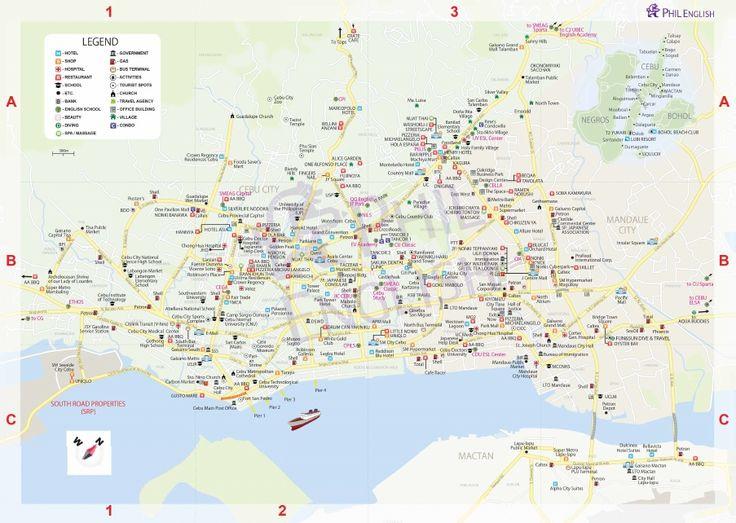 フィリピン留学セブ市 & セブ語学学校マップ