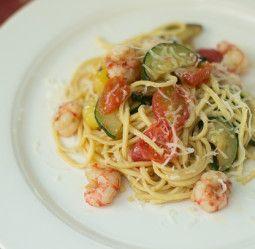 Scialatielli ai Gamberetti - Flat Pasta with Rock Shrimp and Zucchini | Babbo