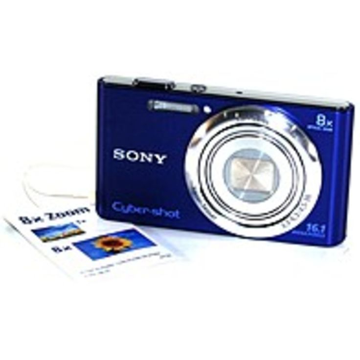Sony Cyber-shot DSC-W730 16.1 Megapixel Compact Camera - Blue - 2.7 Touchscreen LCD - 8x Optical Zoom - Optical (IS) - 4608 x 3456 Image - 1280 x 720 Video - HD Movie Mode