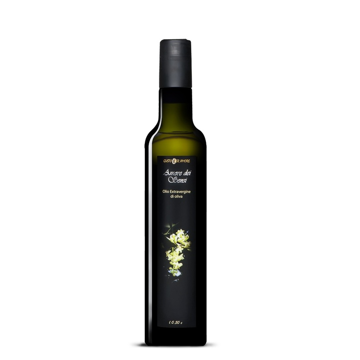 """$10.60 - EVOO """"Amore dei Sensi"""" - Extra virgin oliveoil 100% #italian - 0,50L.  A high quality extra virgin oliveoil. The flavor reflects soils and climate of Loreto Aprutino a small town in #Abruzzo with an ancient culture in olive oil production. The perfect processing method provide a #gourmet extra virgin olive oil. The oil smells just like freshly pressed olives. The #taste is mild, slightly bitter and spicy. Great for meats, fish, cheeses and salads - olio di oliva extra vergine…"""