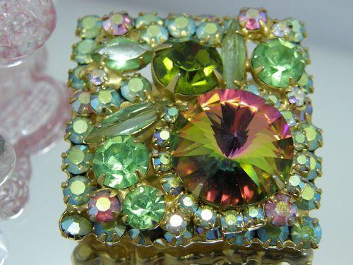 Vintage Signed Costume Jewelry Juliana D E Rivoli Watermelon Rhinestone Brooch | eBay