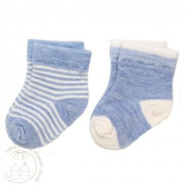 Nui Organics Merino Infant Socks - Sky - 2 Pack www.naturalbabyshower.co.uk/nui-organics-merino-infant-socks-sky-2-pack.html