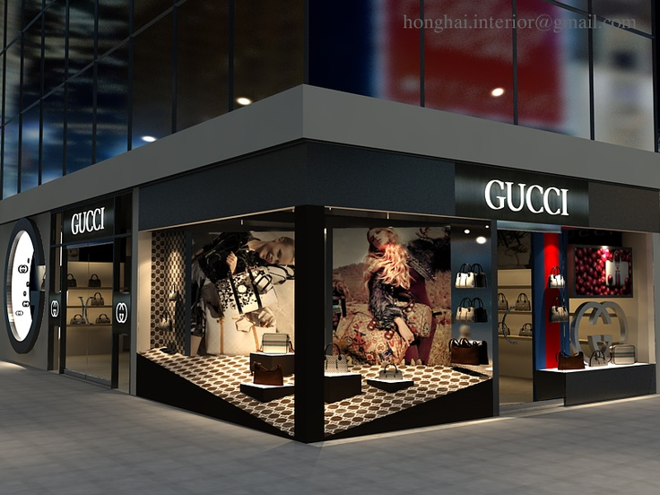 gucci storefront. gucci store in my render storefront k