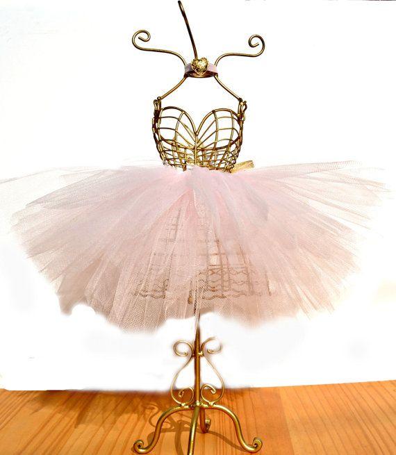 Ballerina Tutu Centerpiece/Wire Mannequin by StaziesStitchsNStuff
