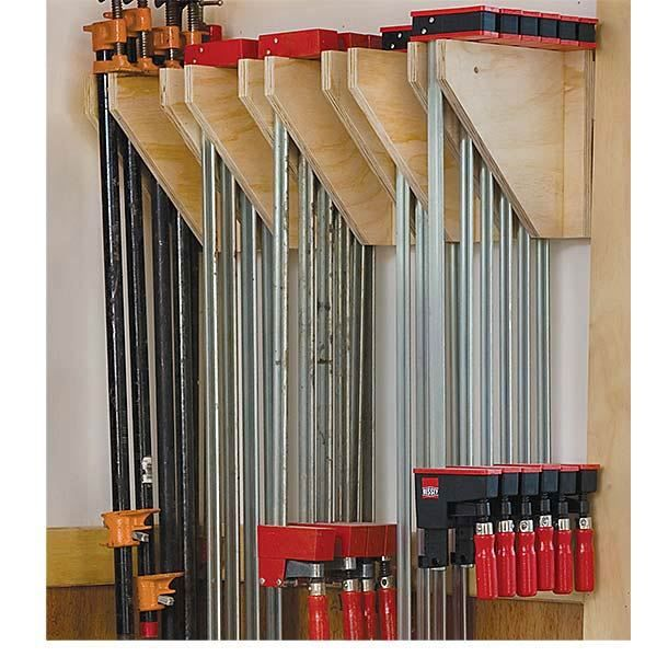 Buy Woodworking Project Paper Plan to Build Wall-Mounted Clamp Rack at Woodcraft.com