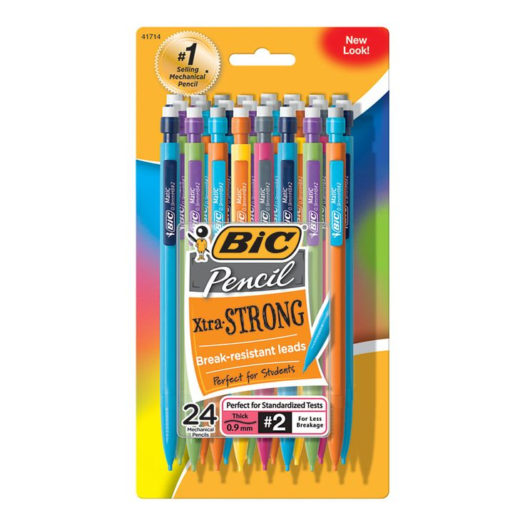 BIC� Mechanical Pencils, 0.9 mm, Assorted Barrels, Pack Of 24