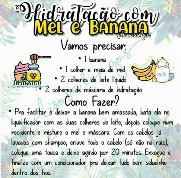 Hidratacao Com Mel E Banana Com Imagens Nutricao Para