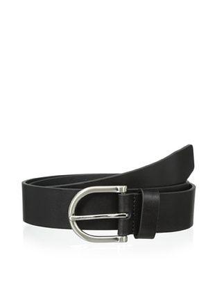 53% OFF Ike Behar Men's 35mm Oil Tan Belt (Black)